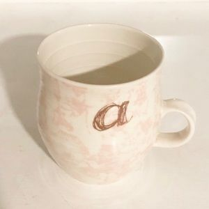 "Anthropologie Monogram Initial ""A"" Coffee Tea Mug"